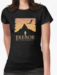 Erebor - The Lonely Mountain (The Hobbit) Womens Fitted T-Shirt