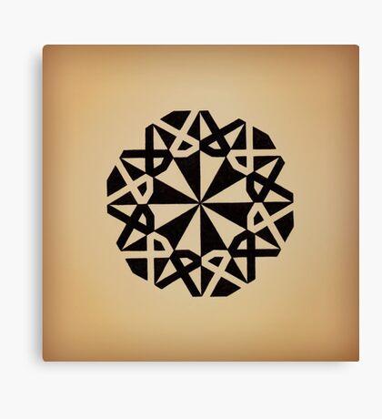 Mandala #216 || Tan Canvas Print