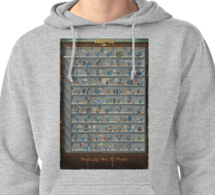 Fall Out 4 Perk Chart Print Pullover Hoodie