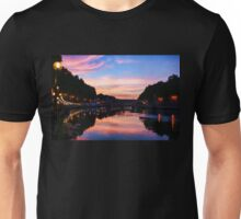 Impressions of Rome - Divine Sky and a Necklace of Lights Along Tiber River Unisex T-Shirt