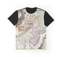 Map of Pennsylvania, New Jersey and New York (1756) Graphic T-Shirt