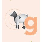 G is for Goat (Lowercase) by Haley Luden