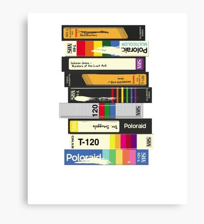 Video Tape 80's Style Canvas Print