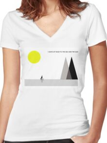 Leave My Rage To The Sea and The Sun Women's Fitted V-Neck T-Shirt