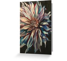 Dahlia in  White blue and red  Greeting Card