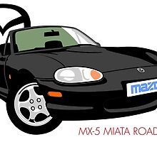 Mazda MX-5 Miata NB black by car2oonz