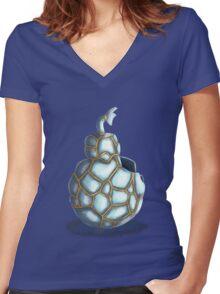 Broken Ornament Women's Fitted V-Neck T-Shirt