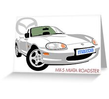 Mazda MX-5 Miata NB white Greeting Card