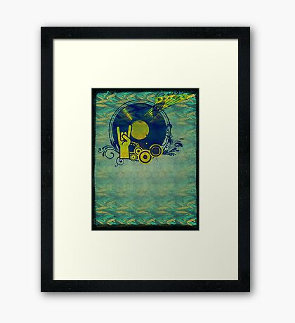 Music Collage 76 Framed Print