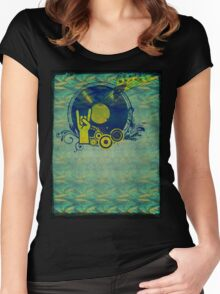 Music Collage 76 Women's Fitted Scoop T-Shirt