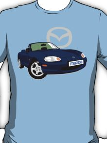 Mazda MX-5 Miata NB dark blue T-Shirt