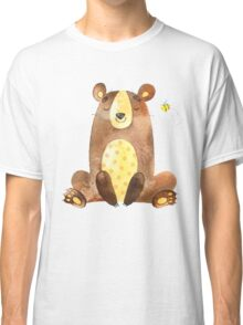 Cute Adorable Watercolor Woodland Baby Bear  Classic T-Shirt