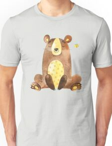Cute Adorable Watercolor Woodland Baby Bear  Unisex T-Shirt