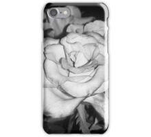 Center Black and White Rose iPhone Case/Skin