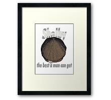 Peaky Blinders Razor - The Best a Man Can Get! Framed Print