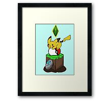 Poke-Craft Framed Print