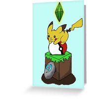 Poke-Craft Greeting Card