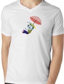 Winky Flying Mens V-Neck T-Shirt
