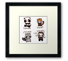 Four Pandas Framed Print
