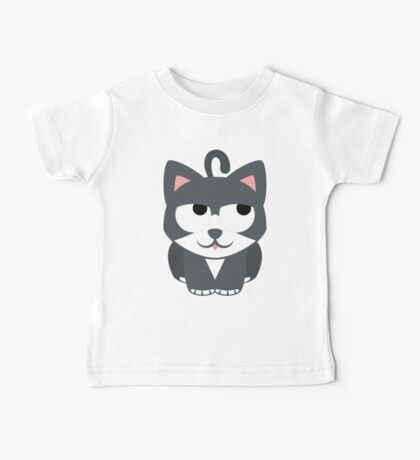 Lovely Cat Emoji Thinking Hard and Hmm Look Baby Tee