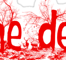 Forest - Red - The Den Sticker