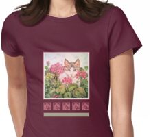 Baby Blossom, Kitten Womens Fitted T-Shirt