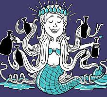 Beer Loving Mermaid Princess by rkrisstewart