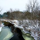 First Snow on the Stream by Chris Coates