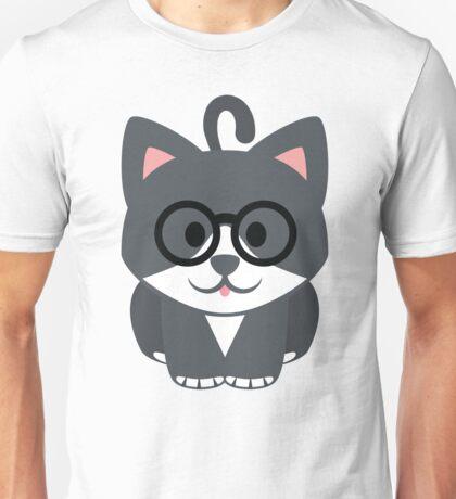 Lovely Cat Emoji Nerdy Spectacle Look Unisex T-Shirt
