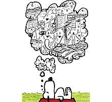 Snoopy Dreams Photographic Print
