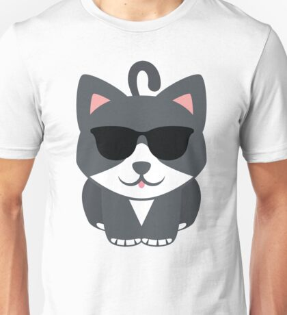 Lovely Cat Emoji Cool Sunglasses Look Unisex T-Shirt