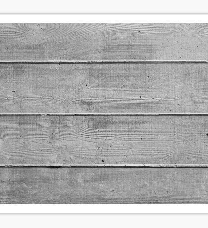 Board marked concrete, horizontal texture Sticker