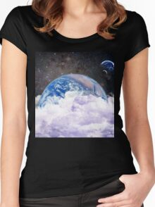 earth in space Women's Fitted Scoop T-Shirt