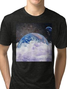 earth in space Tri-blend T-Shirt