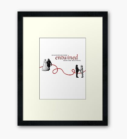 Red String of Fate. Framed Print