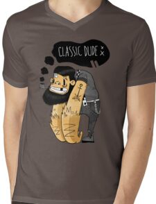 Classic dude Mens V-Neck T-Shirt