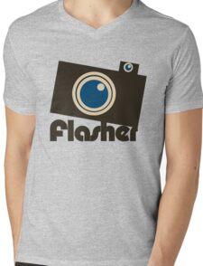 flasher Mens V-Neck T-Shirt