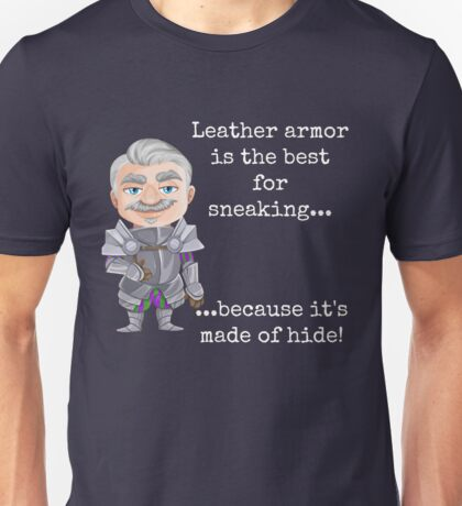 Punny Leather Armor Knight Unisex T-Shirt