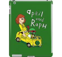 April and Raph iPad Case/Skin