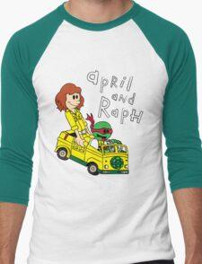 April and Raph Men's Baseball ¾ T-Shirt