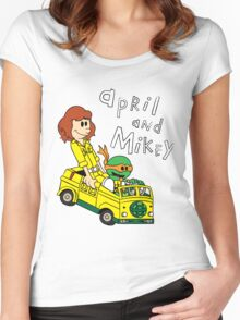 April and Mikey Women's Fitted Scoop T-Shirt
