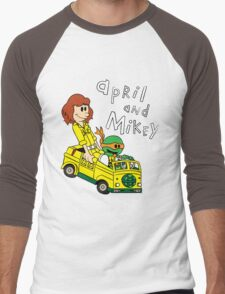 April and Mikey Men's Baseball ¾ T-Shirt