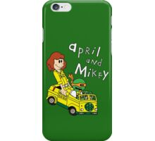 April and Mikey iPhone Case/Skin