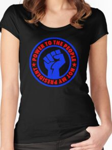 Not My President - Power to the People Women's Fitted Scoop T-Shirt