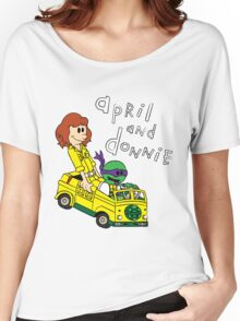 April and Donnie Women's Relaxed Fit T-Shirt