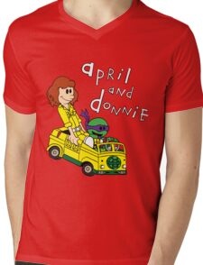 April and Donnie Mens V-Neck T-Shirt