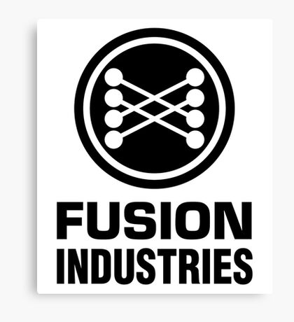 Fusion Industries - Back to the Future (Black) Canvas Print