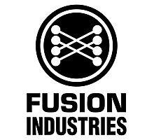 Fusion Industries - Back to the Future (Black) Photographic Print