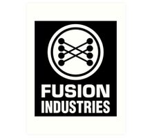 Fusion Industries - Back to the Future (White) Art Print