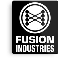 Fusion Industries - Back to the Future (White) Metal Print